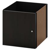 КАЛЛАКС Вставка с дверцей, черно-коричневый, 33x33 см